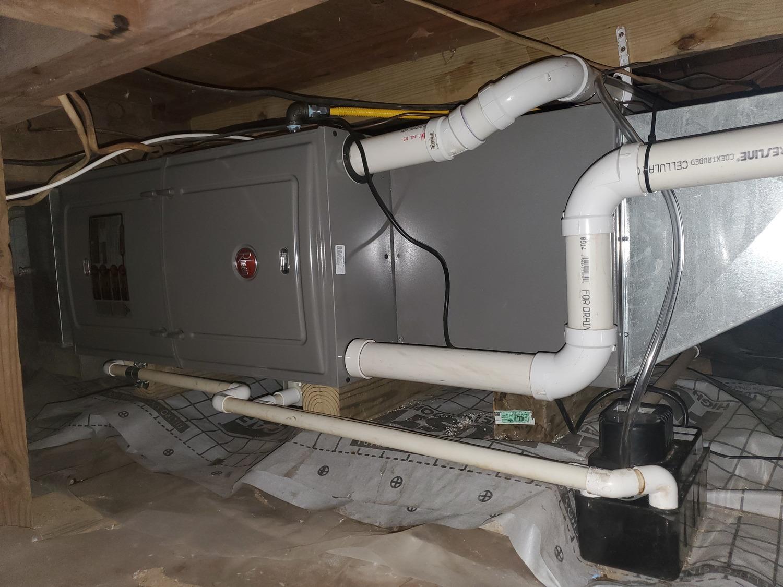 furnace repair in progress