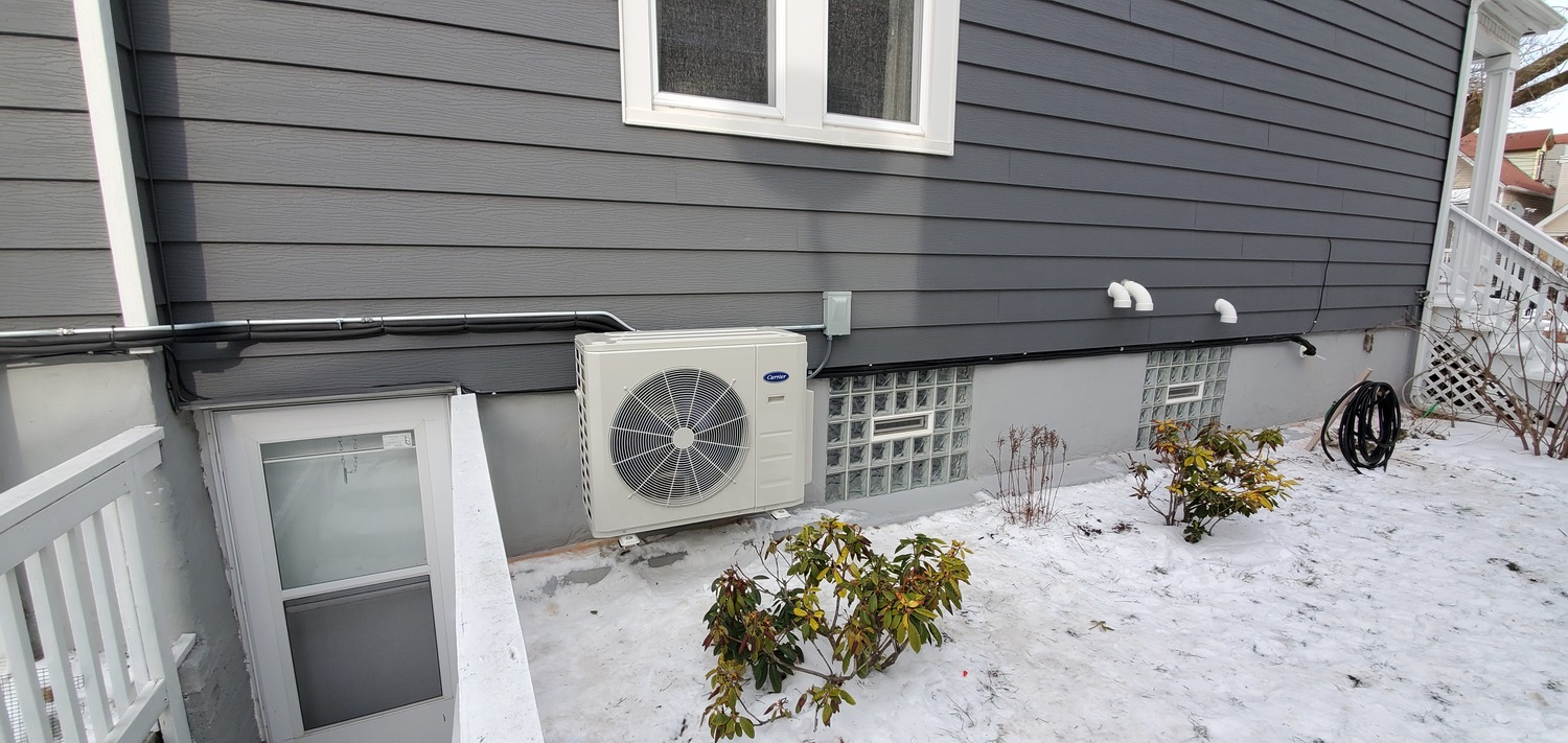 air conditioning installation during winter