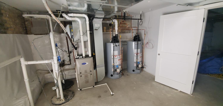 furnace installation & furnace service in progress