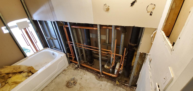 plumbing in progress