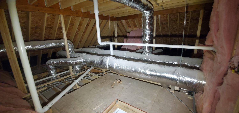 old heating repair in progress