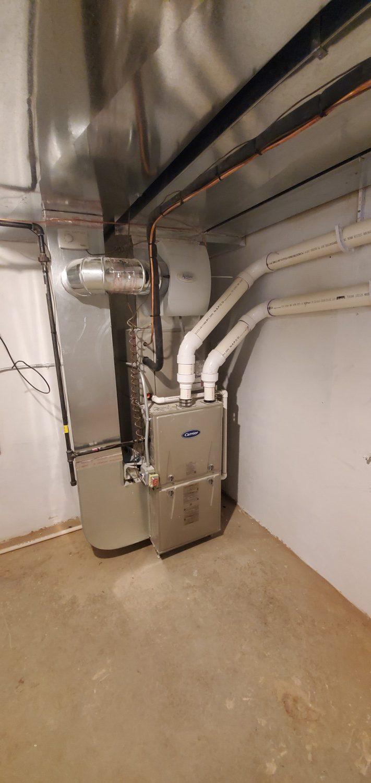 furnace service in progress