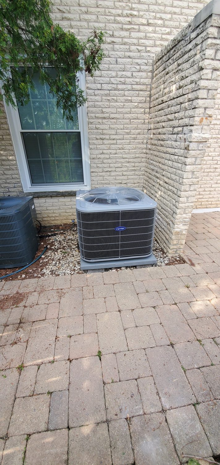new & old air conditioning