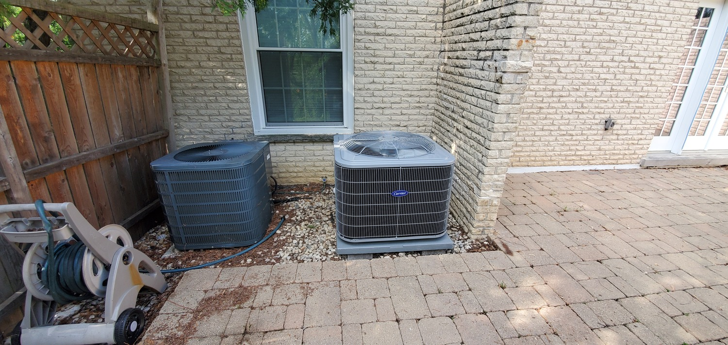 old & new air conditioning